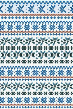 fair isle pattern chart