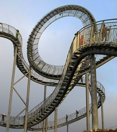 Roller Coaster Staircase, Duiseberg, Germany by Heike Mutter Ulrich Genth via cubeme #Staircase #Roller_Coaster_Staircase #Heike_Mutte_Ulrich_Genth