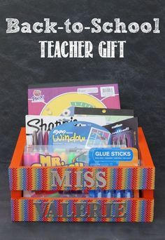 Create a fun, useful back-to-school teacher gift. This would be great for the holidays as well!