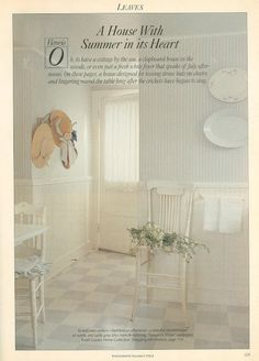 My Shabby Streamside Studio: The Prettiest Blue and White Décor Ever: Victoria Magazine July 1991