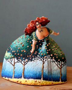 clay, fairies, art doll, paper mach, fairy tales, katya fairi, fairi tale, papier mache, sculptur