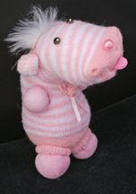 Striped Critter Sock Doll Craft From www.daniellesplace.com