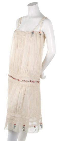 1926 Tulle dress with rosette trim by Callot Soeurs.