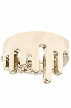The Dripping Metal Ring in Rhodium $12