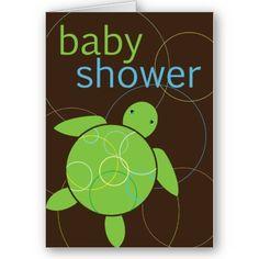 Baby Shower Turtle Invitation