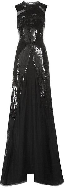 Lace and Sequin Flared Gown NINA RICCI dressmesweetiedarling