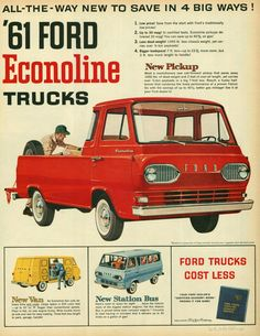 Vintage 1961 Ford Econoline truck ad