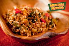 Dirty rice for Meatless Monday blog hop on Recipe Renovator