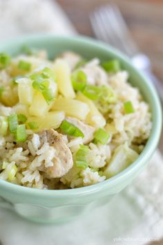 One Pan Pineapple Chicken and Rice!!