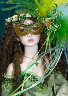 Make a Mardi Gras mask for your doll.