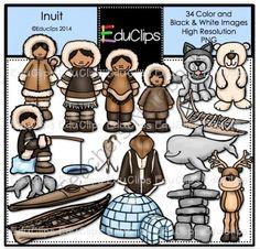 Inuit Clip Art Bundle from Educlips on TeachersNotebook.com -  (34 pages)  - Inuit Clip Art Bundle