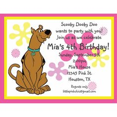 Scooby Doo Birthday Invitation