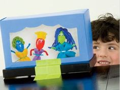 Shoebox Theater with Spoon Puppets Eco-friendly Craft for Kids