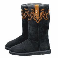 montana west side fringe boots black my style