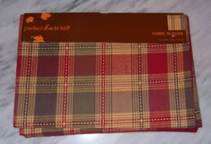 Fall Table Runner Fabric Red Green Yellow Plaid Table Linens Home Decor New #teamsellit #homedecor