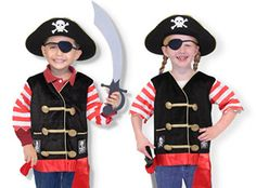 Pirate Costume with Sword - looking for easy-to-pack kids' costumes for Pirate Night!