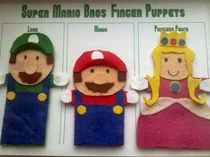 Super Mario finger puppets