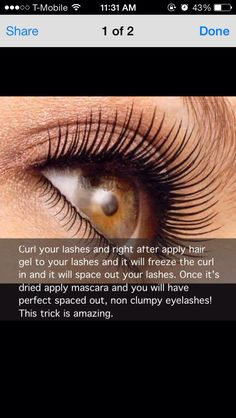 Easy Way To Keep Eyelashes Curled All Day!