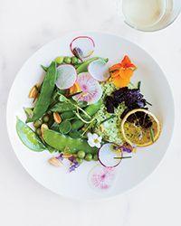Herbed Pea Puree and Ricotta Salad with Black Garlic and Lemon ...