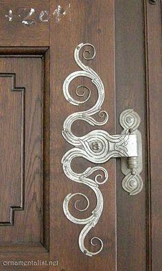 Ornate hinge. St. Thomas Church, Prague.