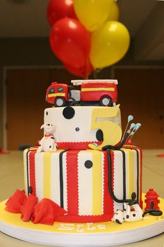 Fire Station Party Cake
