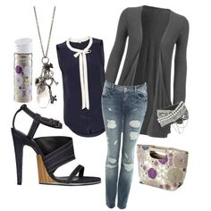 Sailor inspired shirt sexy outfit high fashion purple accent denim shoes key necklace simple and unique style