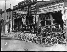 1907 Stratton & Reade Bicycles & Motorcycles, 108 Huerfano St aka Colorado Ave.