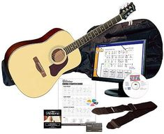 Silvertone SD3000 Complete Acoustic Guitar Package with Instructional Software, Natural at http://suliaszone.com/silvertone-sd3000-complete-acoustic-guitar-package-with-instructional-software-natural/