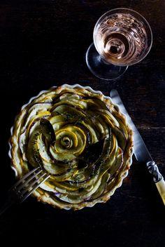 Zucchini and Aubergine Tart