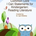 Great I can statements with an OWL theme for the reading literature common core statements.  PDF allows you to print for poster display or project ...