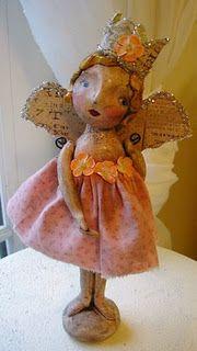 crown, paper mache, fairi, christmas angels, blog, paper clay, fairy art, art dolls, fairy dolls