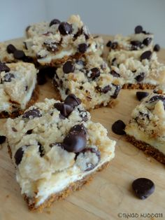 Recipe: Chocolate Chip Cookie Dough Cheesecake Bars - The Whimsical Whims of Ikhlas Hussain