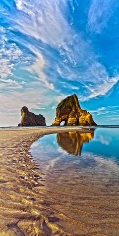 Amazing Beaches - Wharariki Beach, Golden Bay, New Zealand
