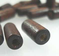 Brown Wood Bead Jewelry Tube - Spoil Me Silly Jewellery