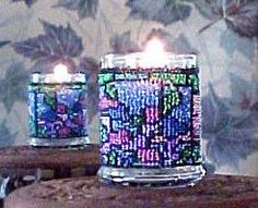 Beaded Stained Glass Candle Holder Pattern and Kit. (Click on the picture to see this item on our website). $17.95