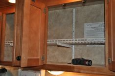 RV Mods - easy shelf installation for organizing your TH | Woodall's Campgrounds, RV Blog and Family Camping Blog