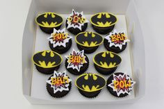 neat cupcakes, food, batman cupcak, cake boxes, rout cupcak, cupcake toppers