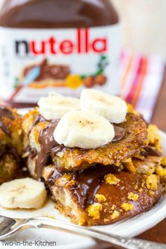 Nutella and Banana Stuffed Capn' Crunch Crusted French Toat  Two in the Kitchen vv