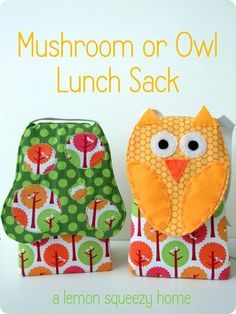 Perfect for back to school lunch sacks or for just a fun bag for your kids.