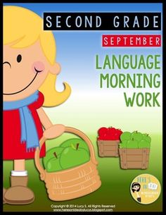 $ Second Grade Language Morning Work: September - Common Core - 2nd grade