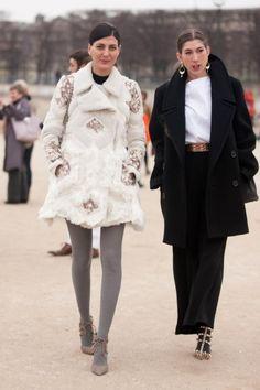 natural skin, white coat, paris, fashion weeks, grey tight, dresses, fashion zone, giovanna battaglia, coats