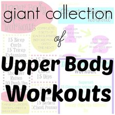 Giant Collection of Upper Body Workouts