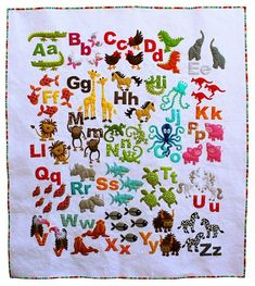 Animal Alphabet quilt, if only I had the time!