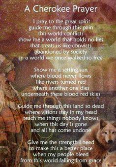 A Cherokee Prayer