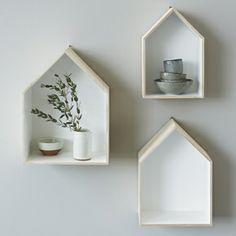 Set of 3 House Box Shelves