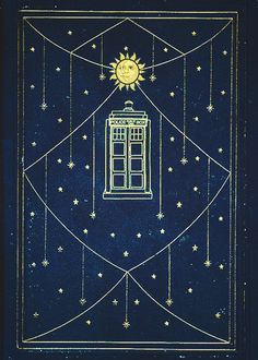 I totally want to make a perfect little bound Doctor Who book with this as the cover.