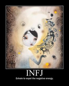 Fun Fact : INJF Personalities consist of only 2% of the World, Making it it's rarest of all 18 personality types. personality types, life, mbti, introvertinfj, injf personality, introvert infj, person type, infj person, exhal infj