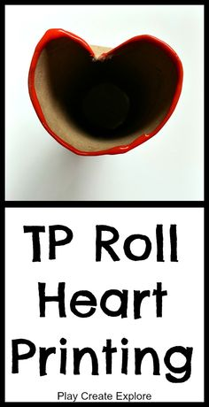 Toilet Paper Roll Heart Printing