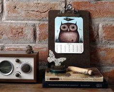 2012 Owl lover calendar (free printable!)