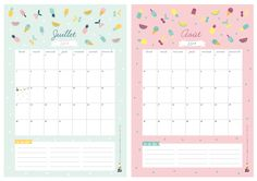 DIY calendar 2014 freeprintable by Zü
